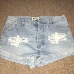One Teaspoon Outlaw denim shorts